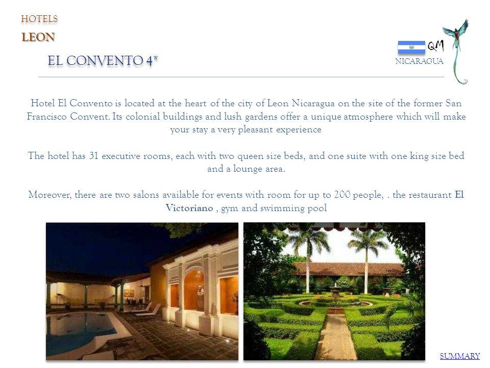 HOTELS QM. NICARAGUA. LEON. EL CONVENTO 4*