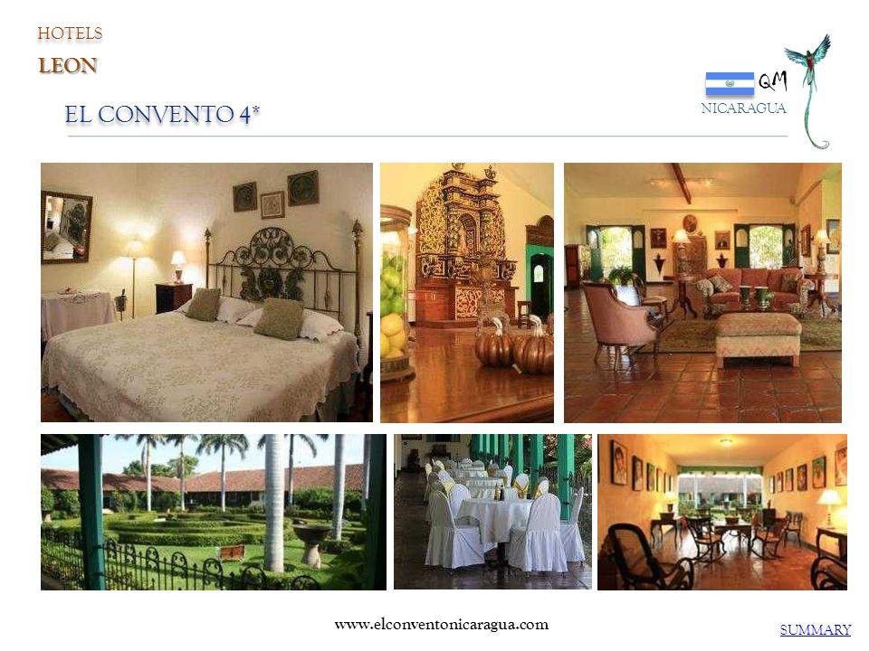 QM EL CONVENTO 4* LEON HOTELS www.elconventonicaragua.com NICARAGUA