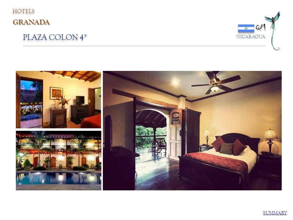 HOTELS QM NICARAGUA GRANADA PLAZA COLON 4* SUMMARY
