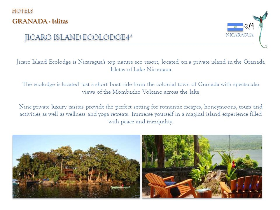 QM JICARO ISLAND ECOLODGE4* GRANADA - Islitas