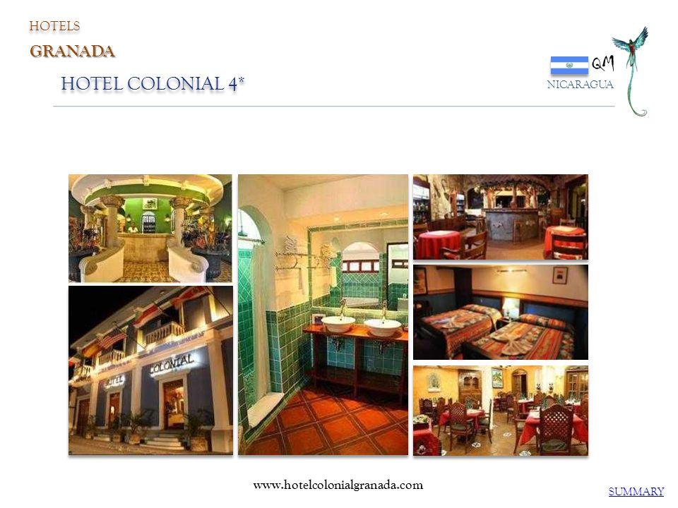 QM HOTEL COLONIAL 4* GRANADA HOTELS www.hotelcolonialgranada.com