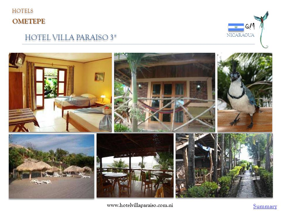 QM HOTEL VILLA PARAISO 3* OMETEPE Summary HOTELS