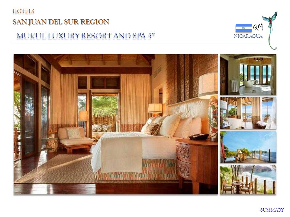 QM MUKUL LUXURY RESORT AND SPA 5* SAN JUAN DEL SUR REGION HOTELS