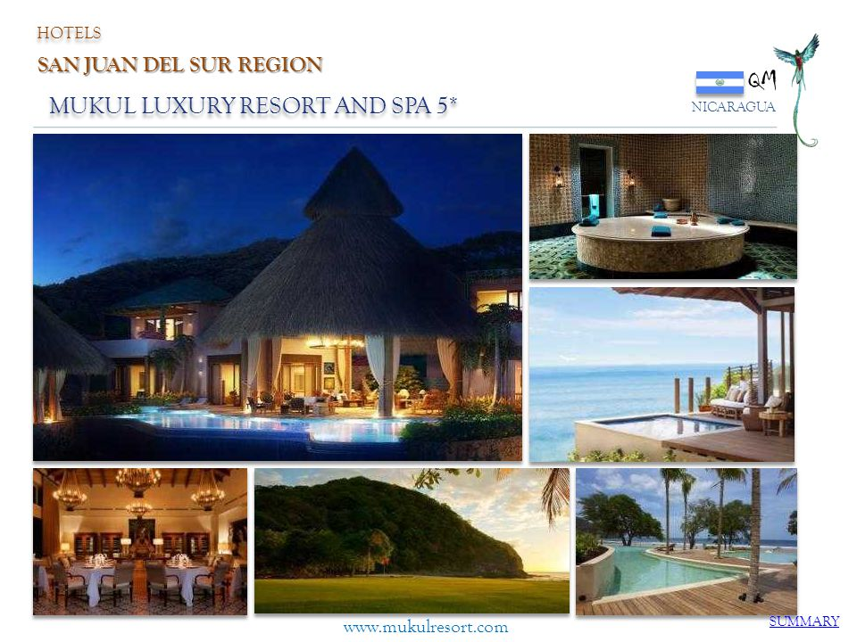 QM MUKUL LUXURY RESORT AND SPA 5* SAN JUAN DEL SUR REGION