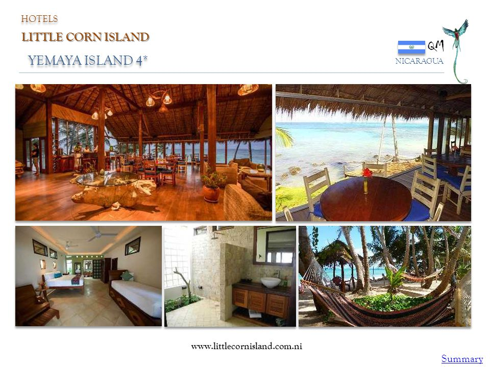 QM YEMAYA ISLAND 4* LITTLE CORN ISLAND Summary HOTELS