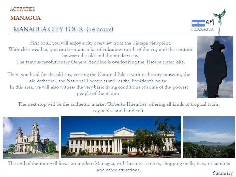 QM MANAGUA CITY TOUR (±4 hours) MANAGUA