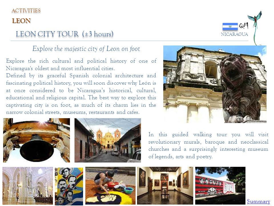 QM LEON CITY TOUR (±3 hours) Explore the majestic city of Leon on foot