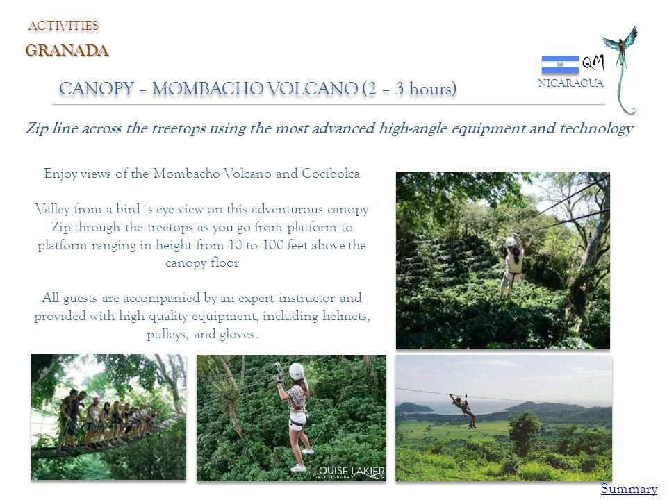 QM CANOPY – MOMBACHO VOLCANO (2 – 3 hours) GRANADA