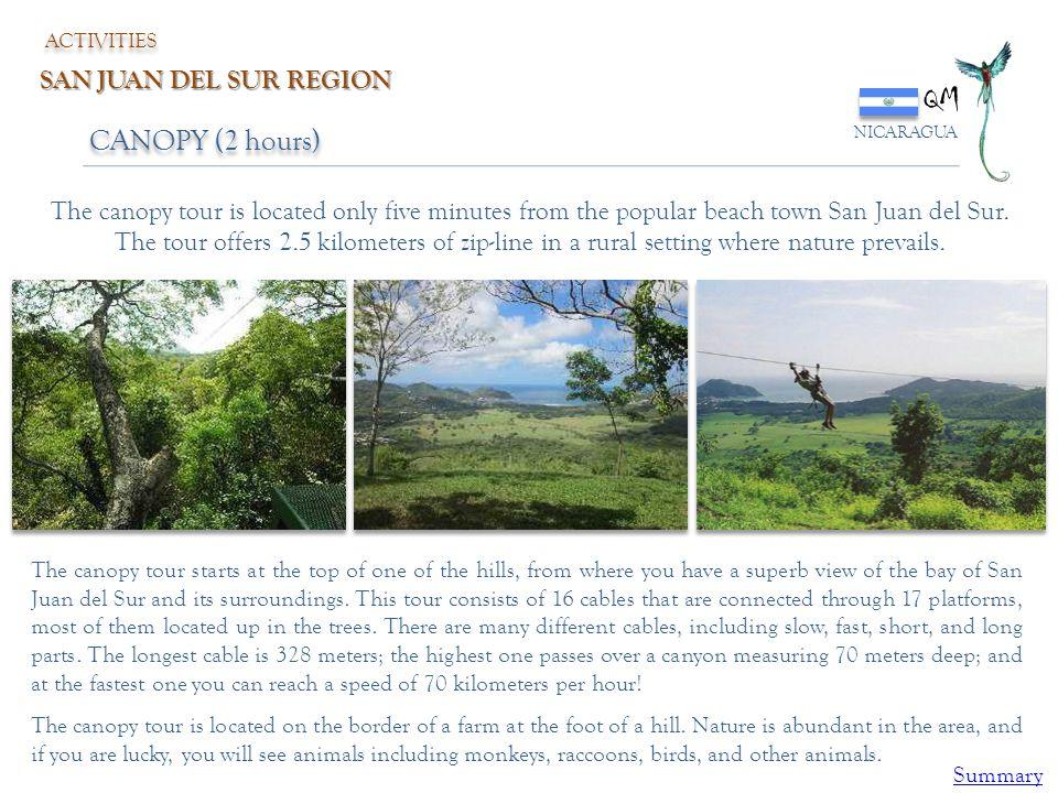 QM CANOPY (2 hours) SAN JUAN DEL SUR REGION