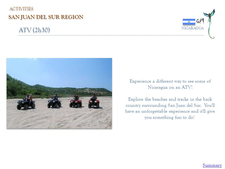 Experience a different way to see some of Nicaragua on an ATV!