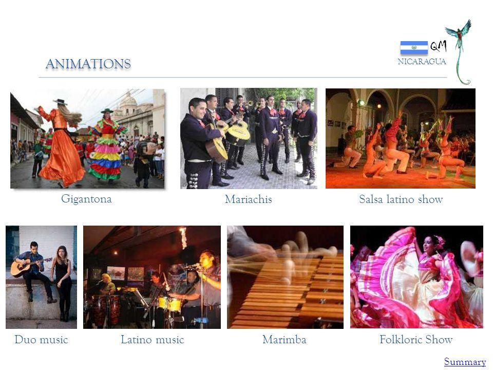 QM ANIMATIONS Gigantona Mariachis Salsa latino show Duo music