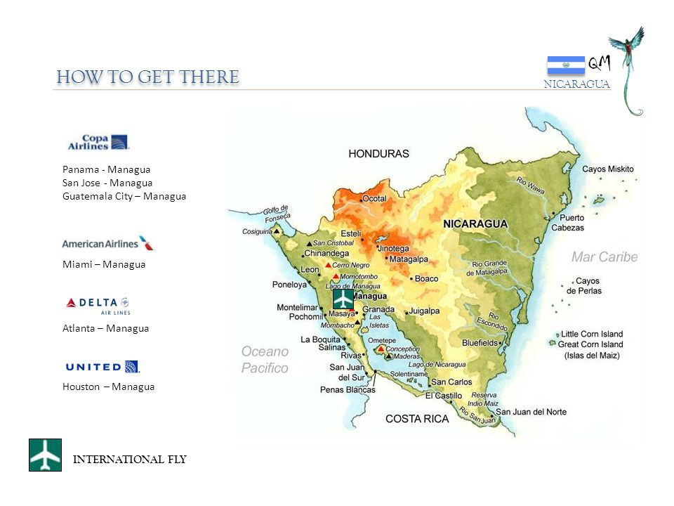 QM HOW TO GET THERE NICARAGUA Panama - Managua San Jose - Managua