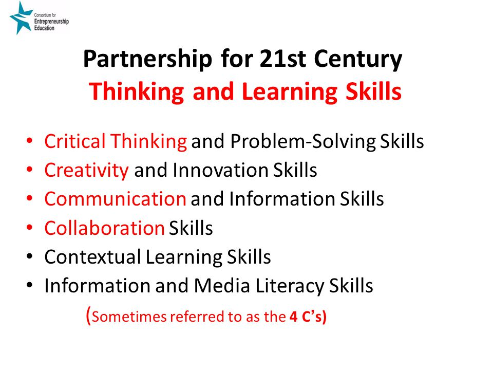 Partnership for 21st Century Thinking and Learning Skills