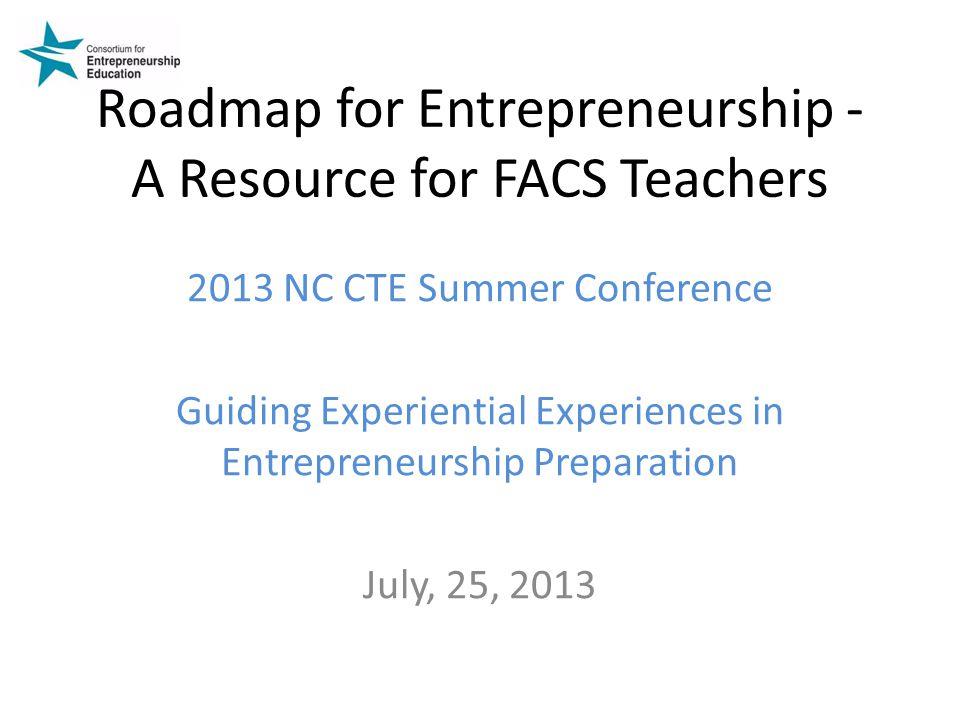 Roadmap for Entrepreneurship - A Resource for FACS Teachers