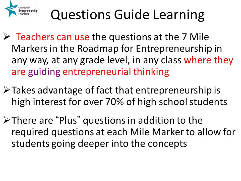 Questions Guide Learning