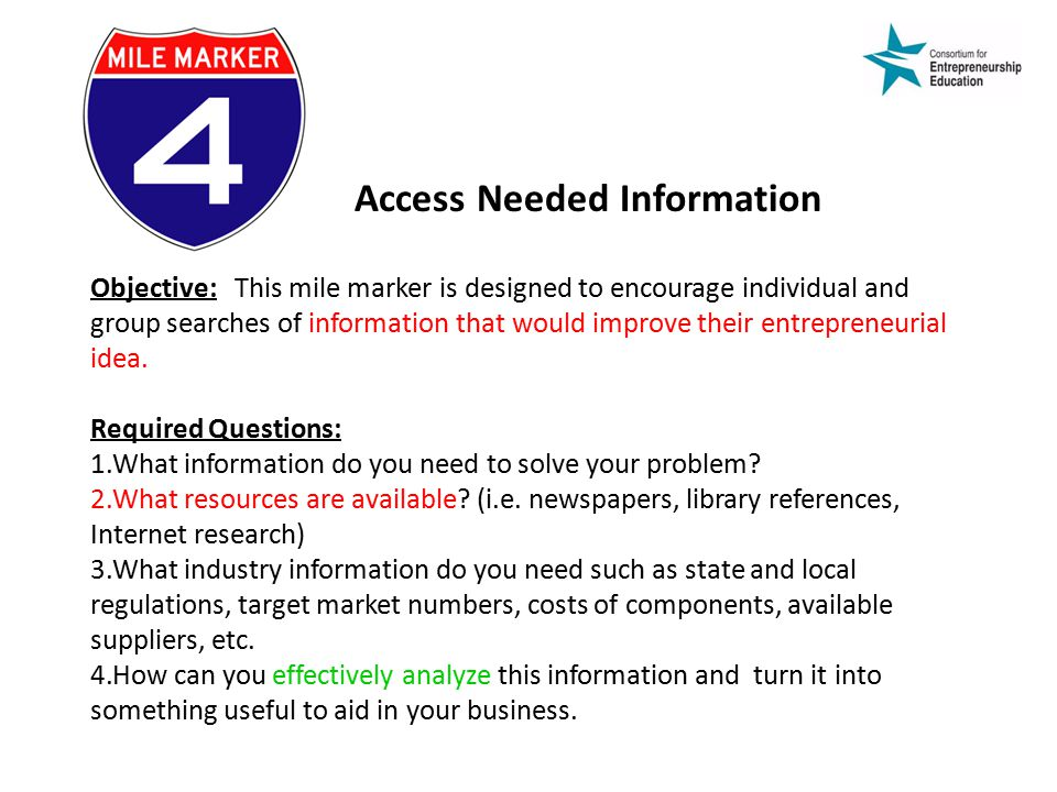 Access Needed Information