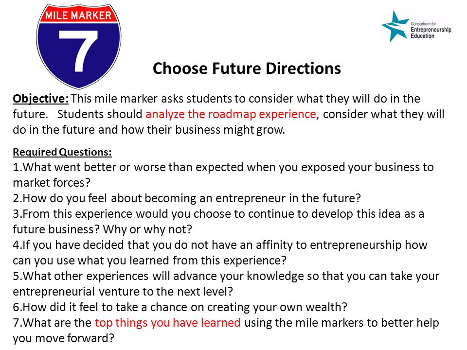 Choose Future Directions