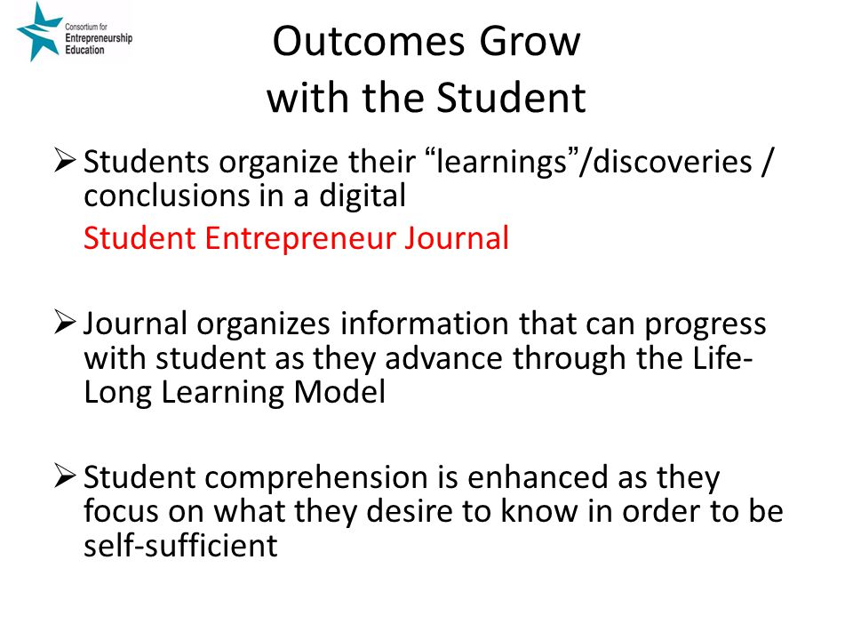 Outcomes Grow with the Student
