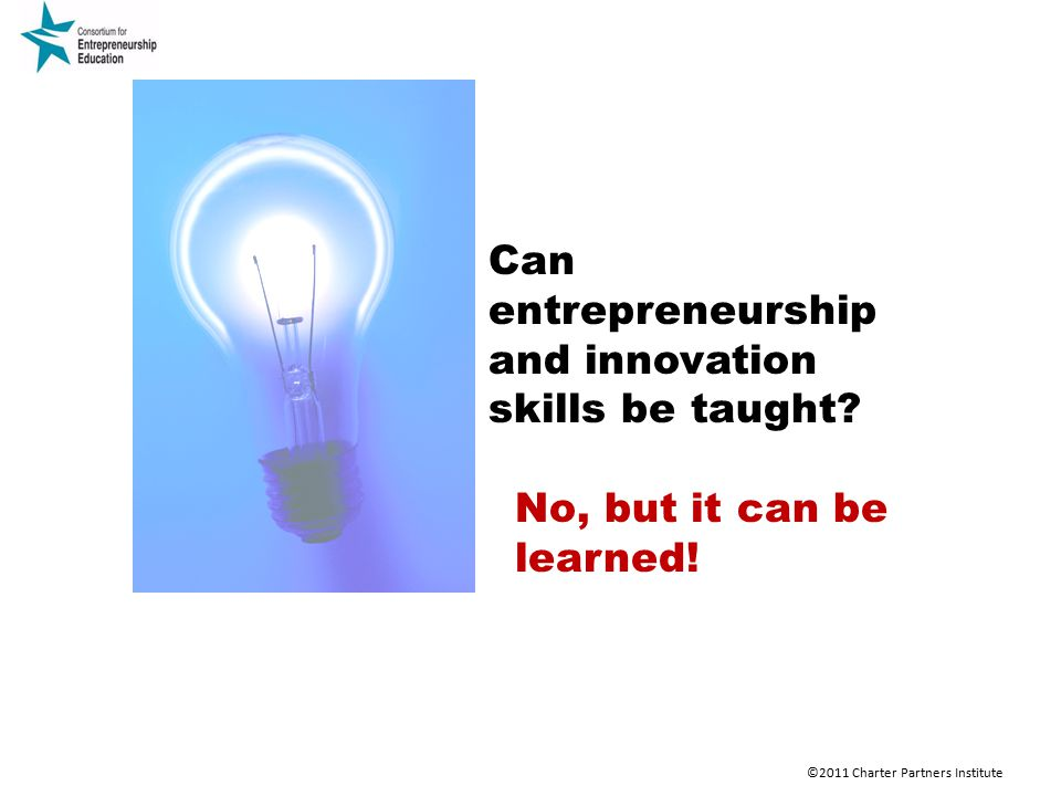Can entrepreneurship and innovation skills be taught