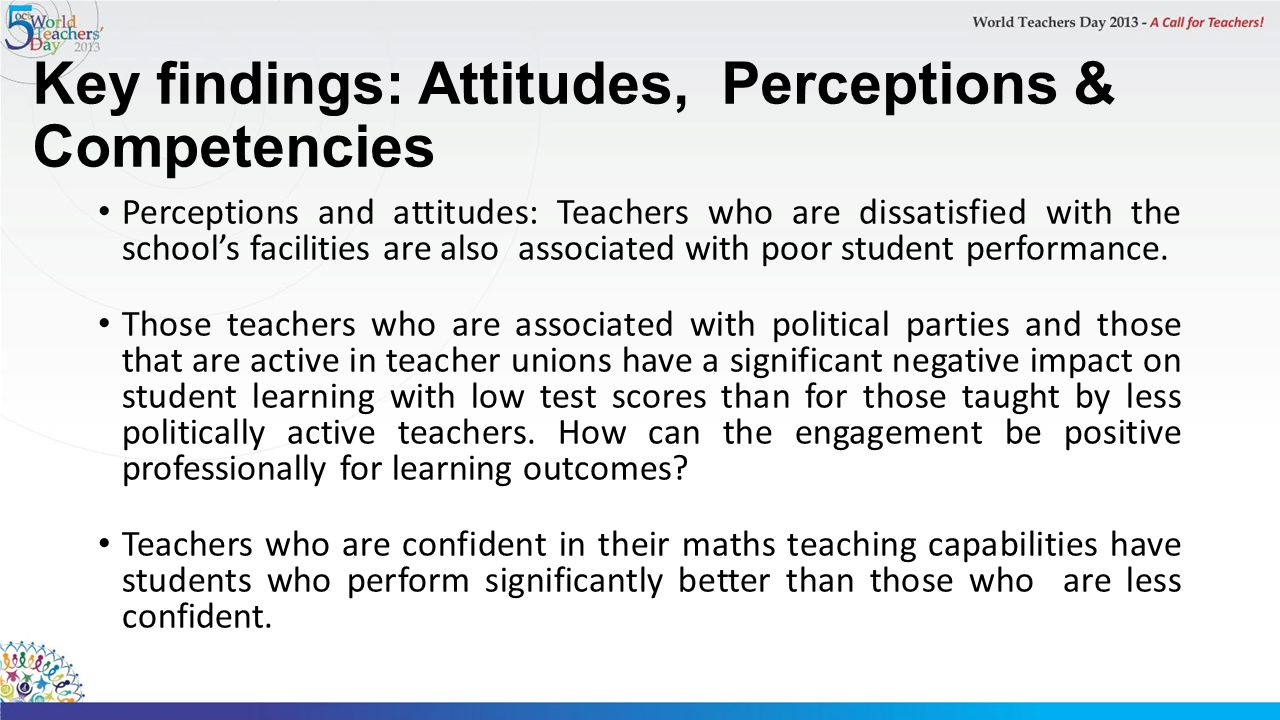 Key findings: Attitudes, Perceptions & Competencies