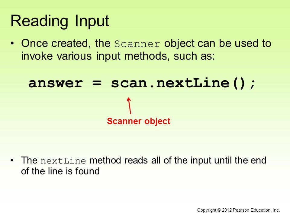answer = scan.nextLine();