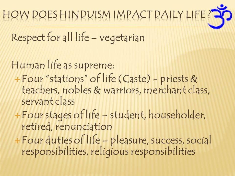 How does Hinduism impact daily life