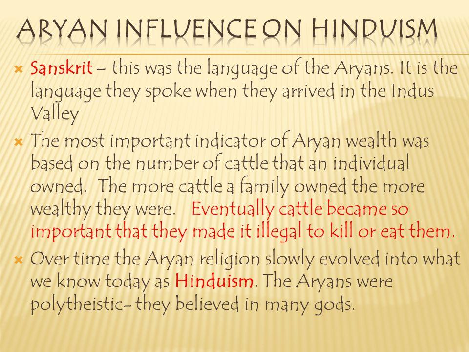Aryan influence on hinduism