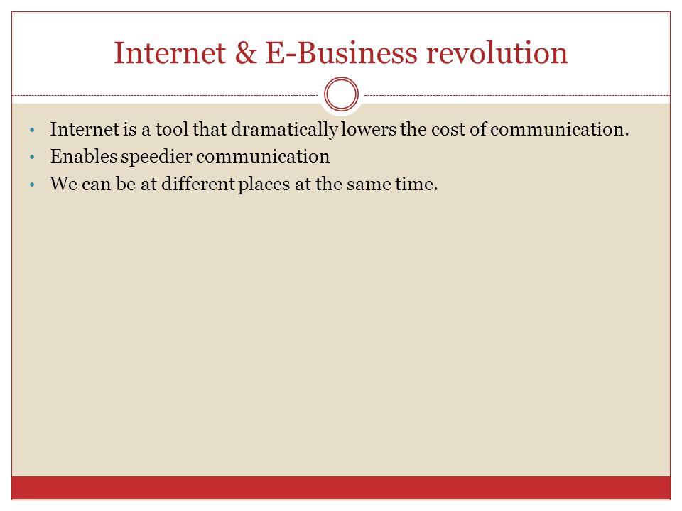 Internet & E-Business revolution