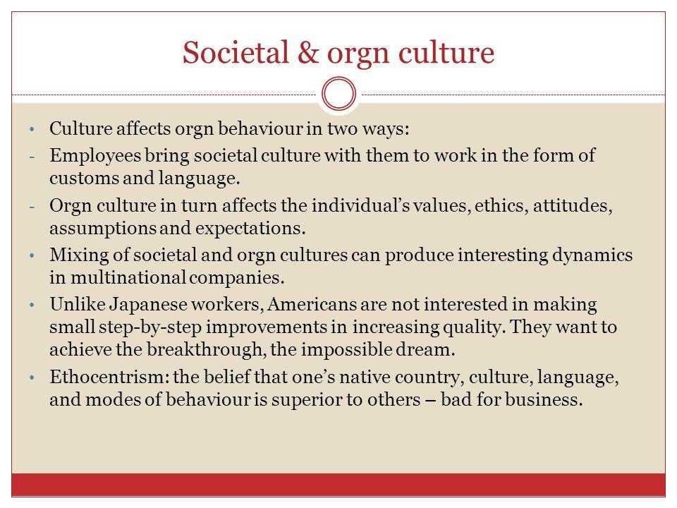 Societal & orgn culture