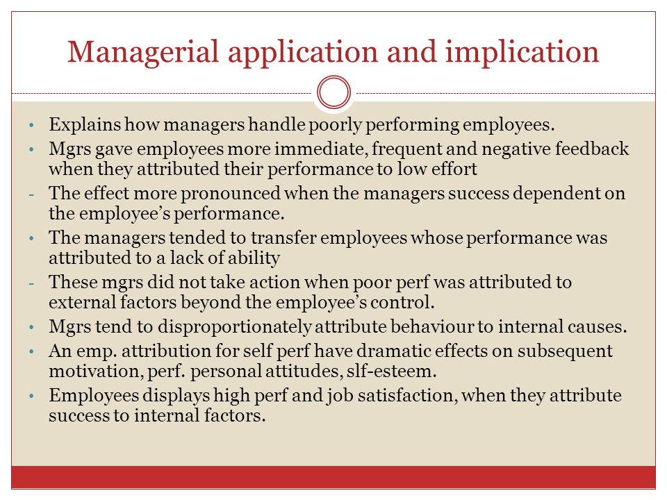 Managerial application and implication