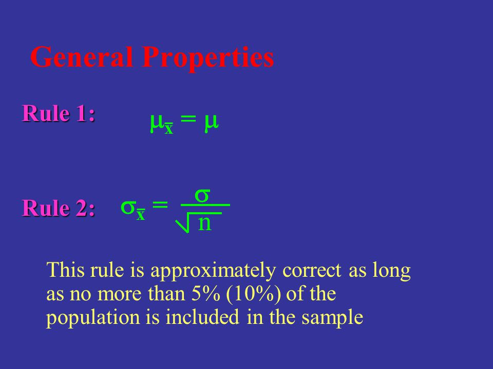 General Properties mx = m s sx = n Rule 1: Rule 2: