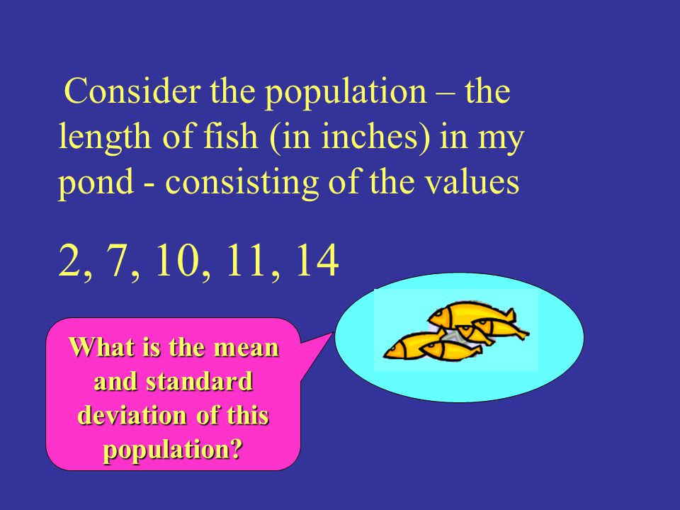 What is the mean and standard deviation of this population
