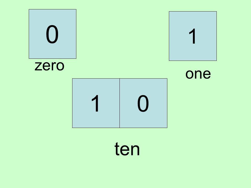 1 zero one 1 ten