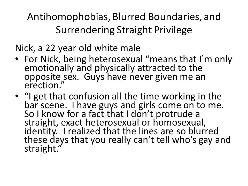 Antihomophobias, Blurred Boundaries, and Surrendering Straight Privilege