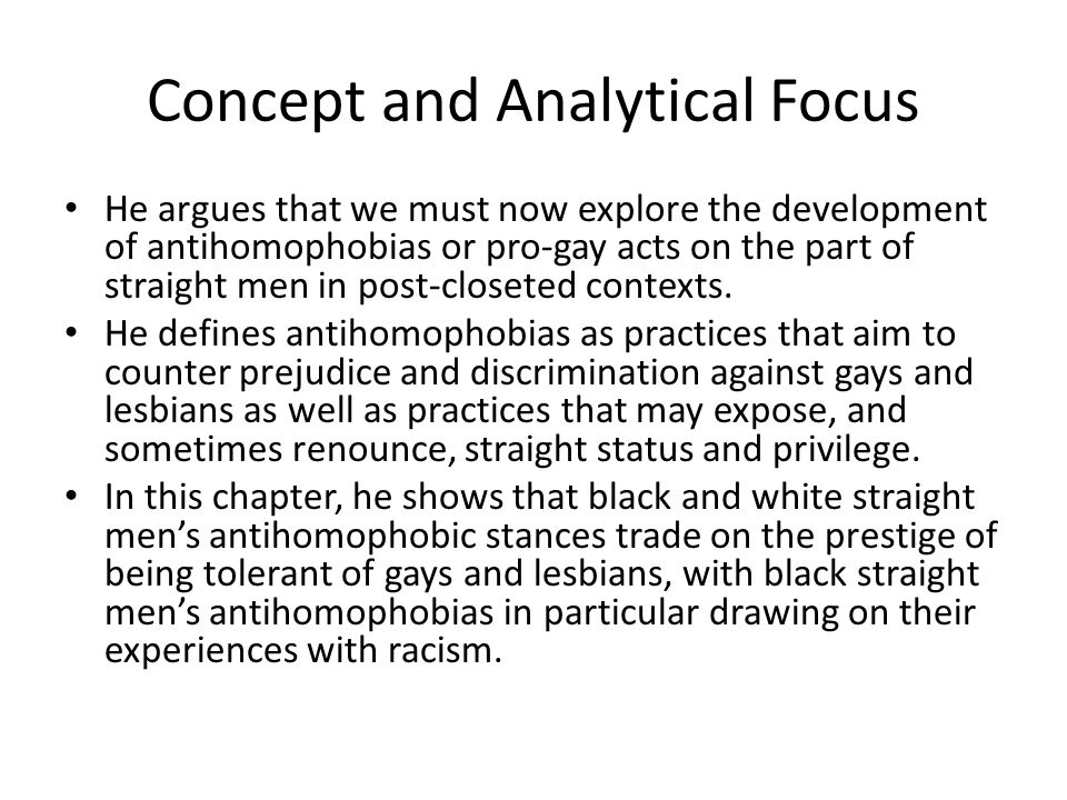 Concept and Analytical Focus