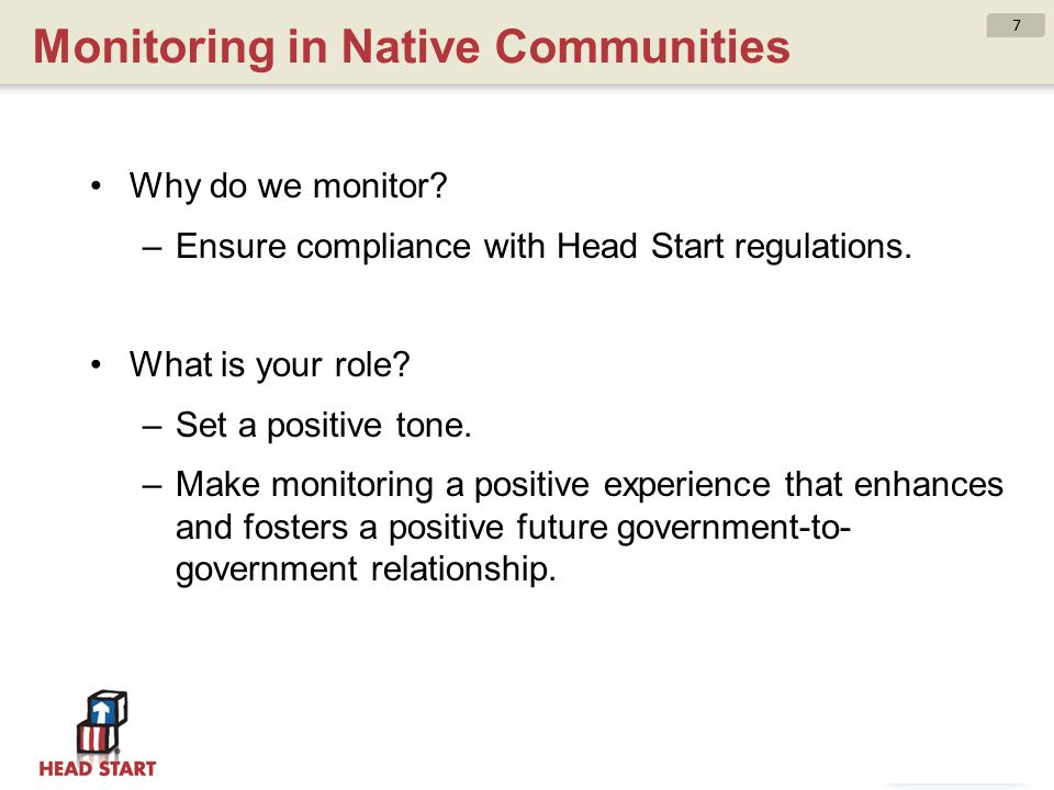 Monitoring in Native Communities