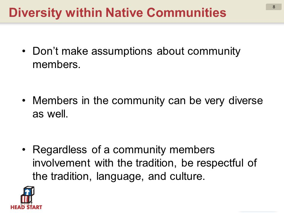 Diversity within Native Communities