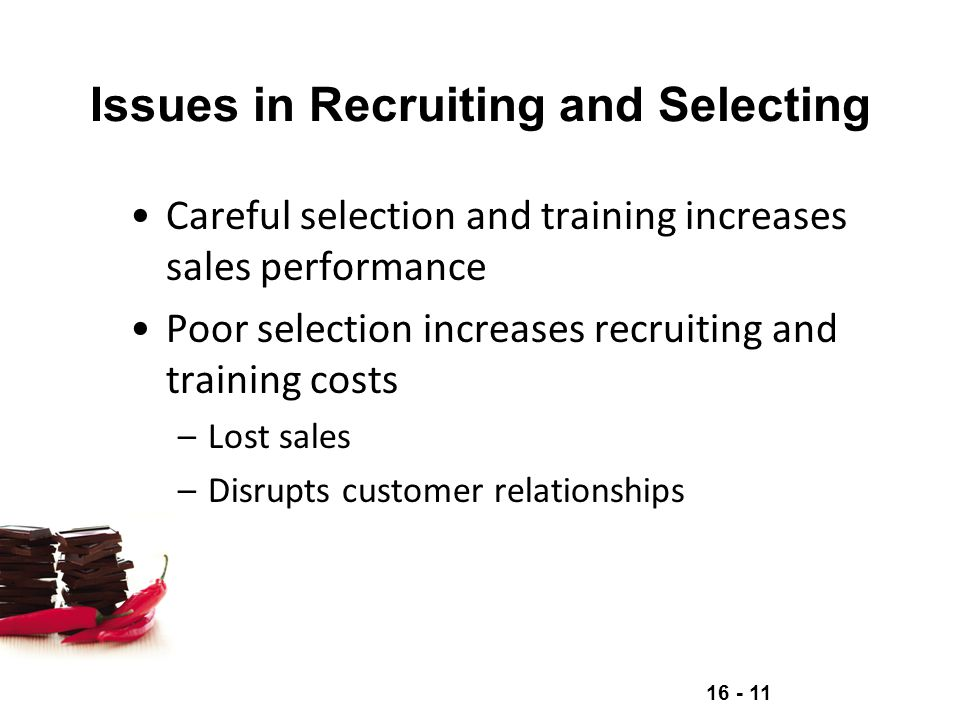 Issues in Recruiting and Selecting