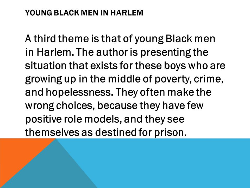 Young Black Men in Harlem