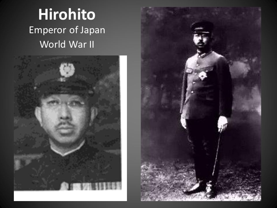 Hirohito Emperor of Japan World War II