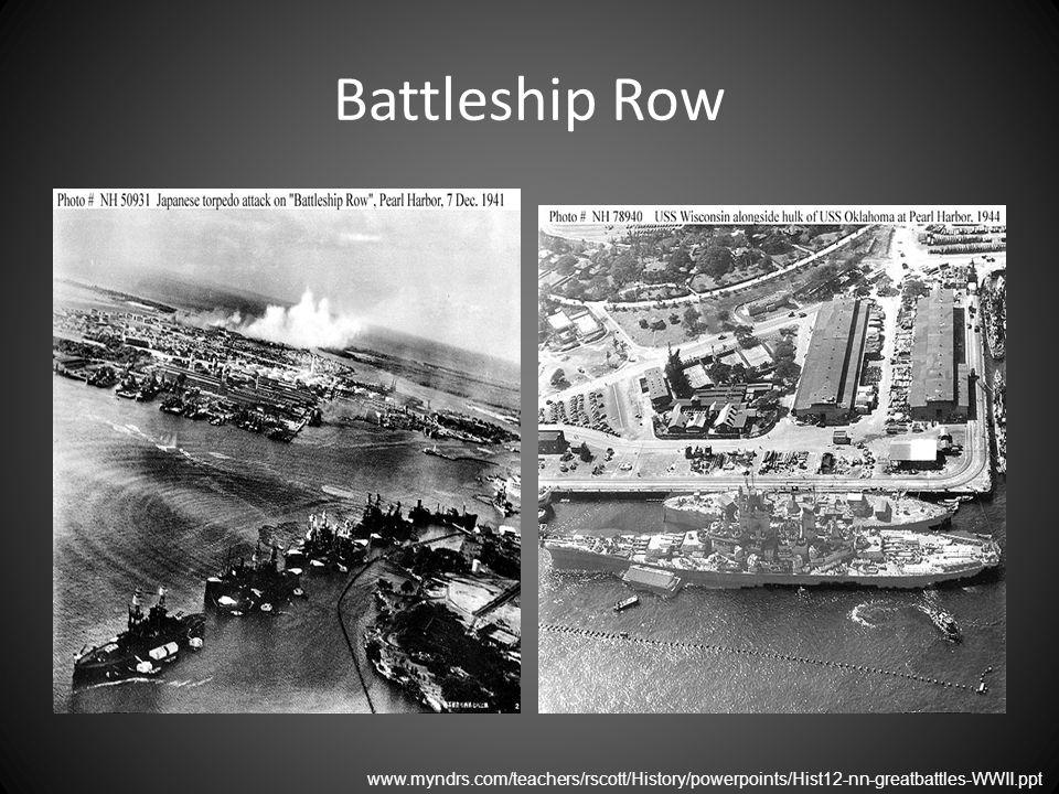 Battleship Row www.myndrs.com/teachers/rscott/History/powerpoints/Hist12-nn-greatbattles-WWII.ppt