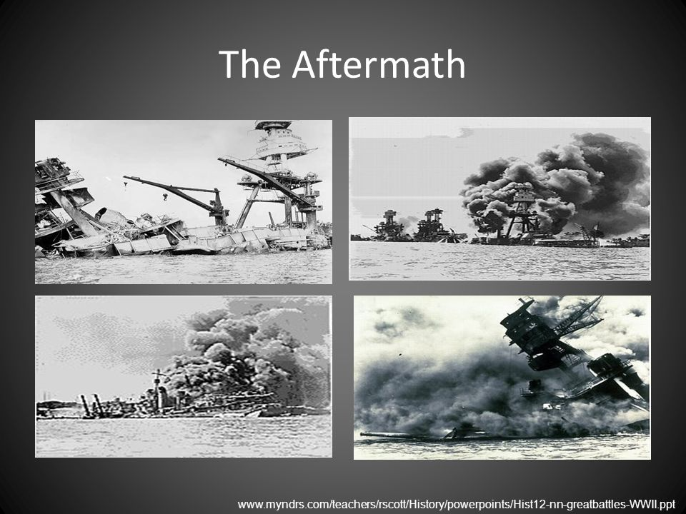 The Aftermath www.myndrs.com/teachers/rscott/History/powerpoints/Hist12-nn-greatbattles-WWII.ppt