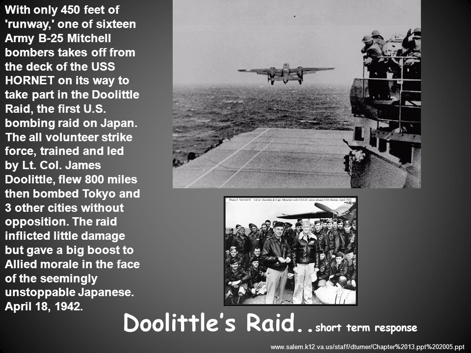Doolittle's Raid..short term response