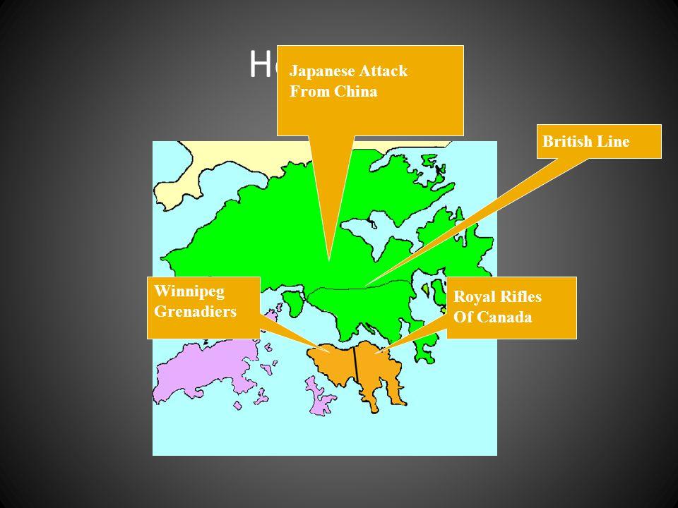 Hong Kong Japanese Attack From China British Line Winnipeg