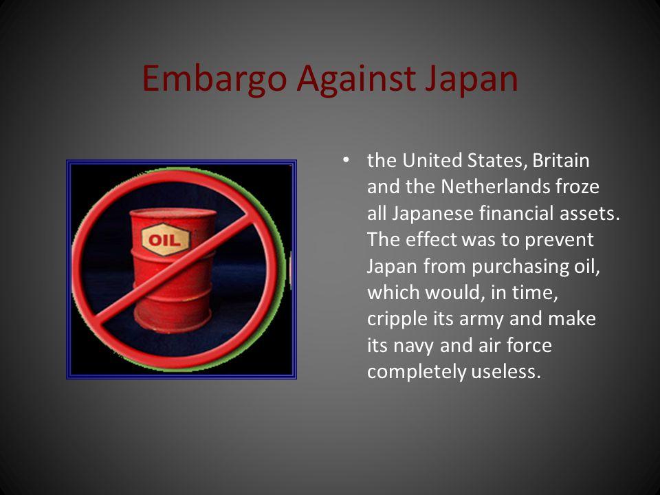 Embargo Against Japan
