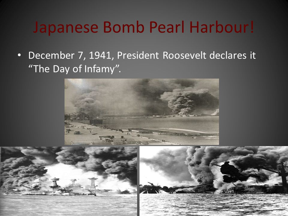 Japanese Bomb Pearl Harbour!
