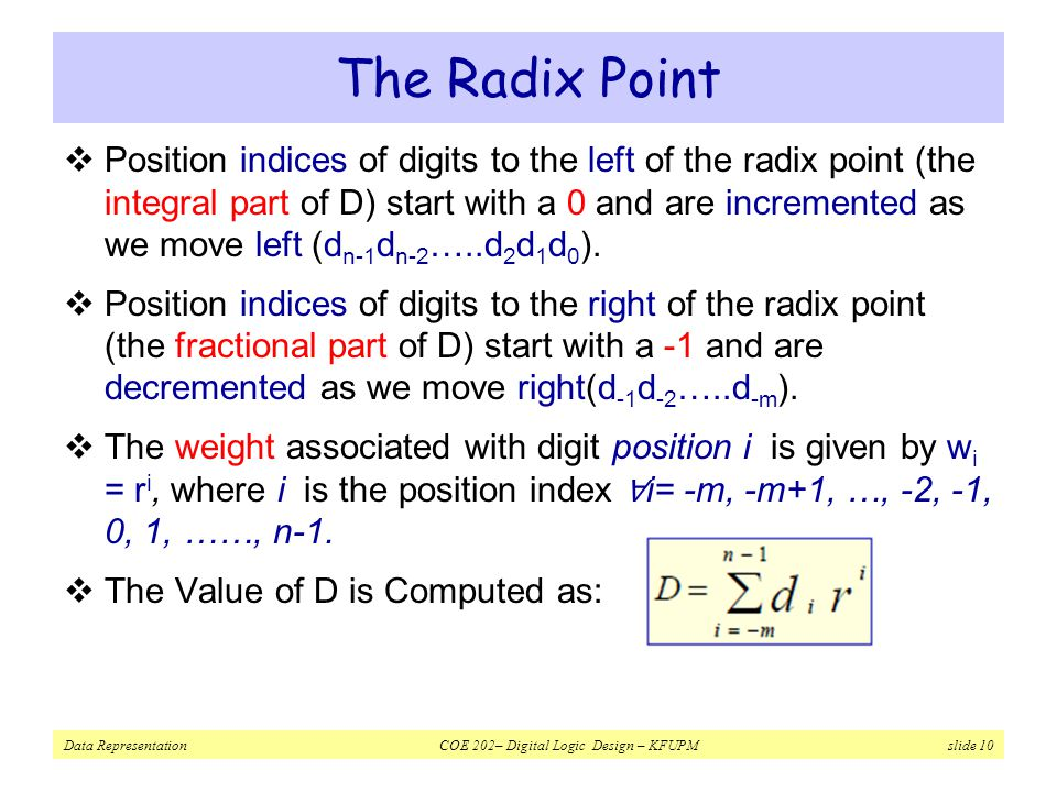 The Radix Point