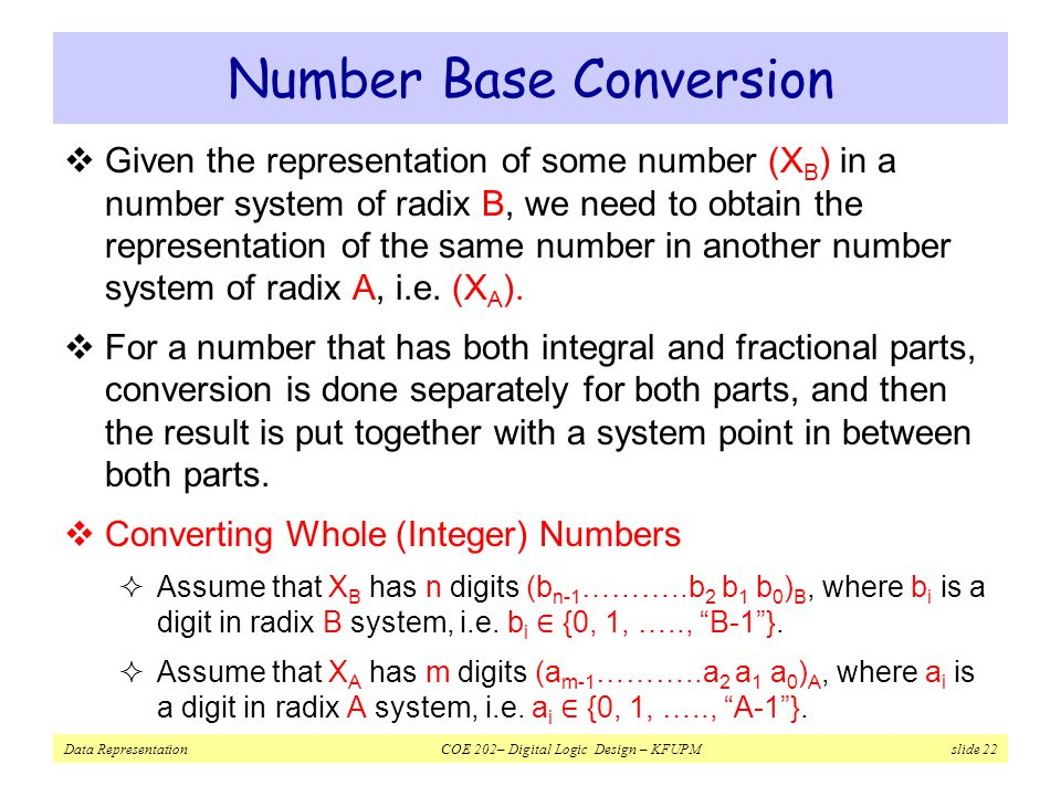 Number Base Conversion