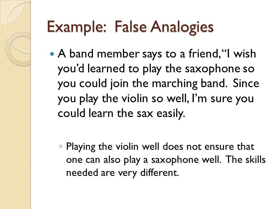 Example: False Analogies