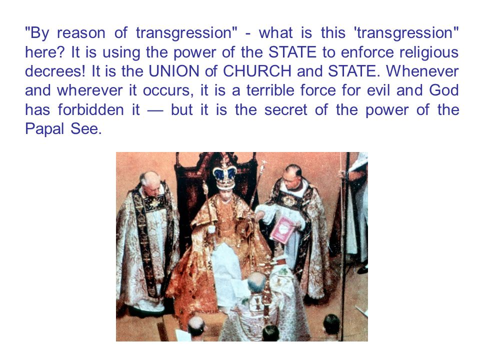 By reason of transgression - what is this transgression here